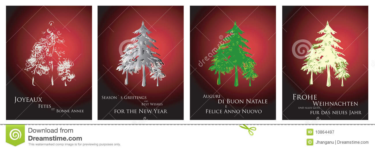 Christmas Cards 2014 Royalty Free Stock Photography