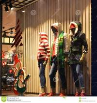 Christmas Clothing Window,Winter Fashion Boutique Display ...