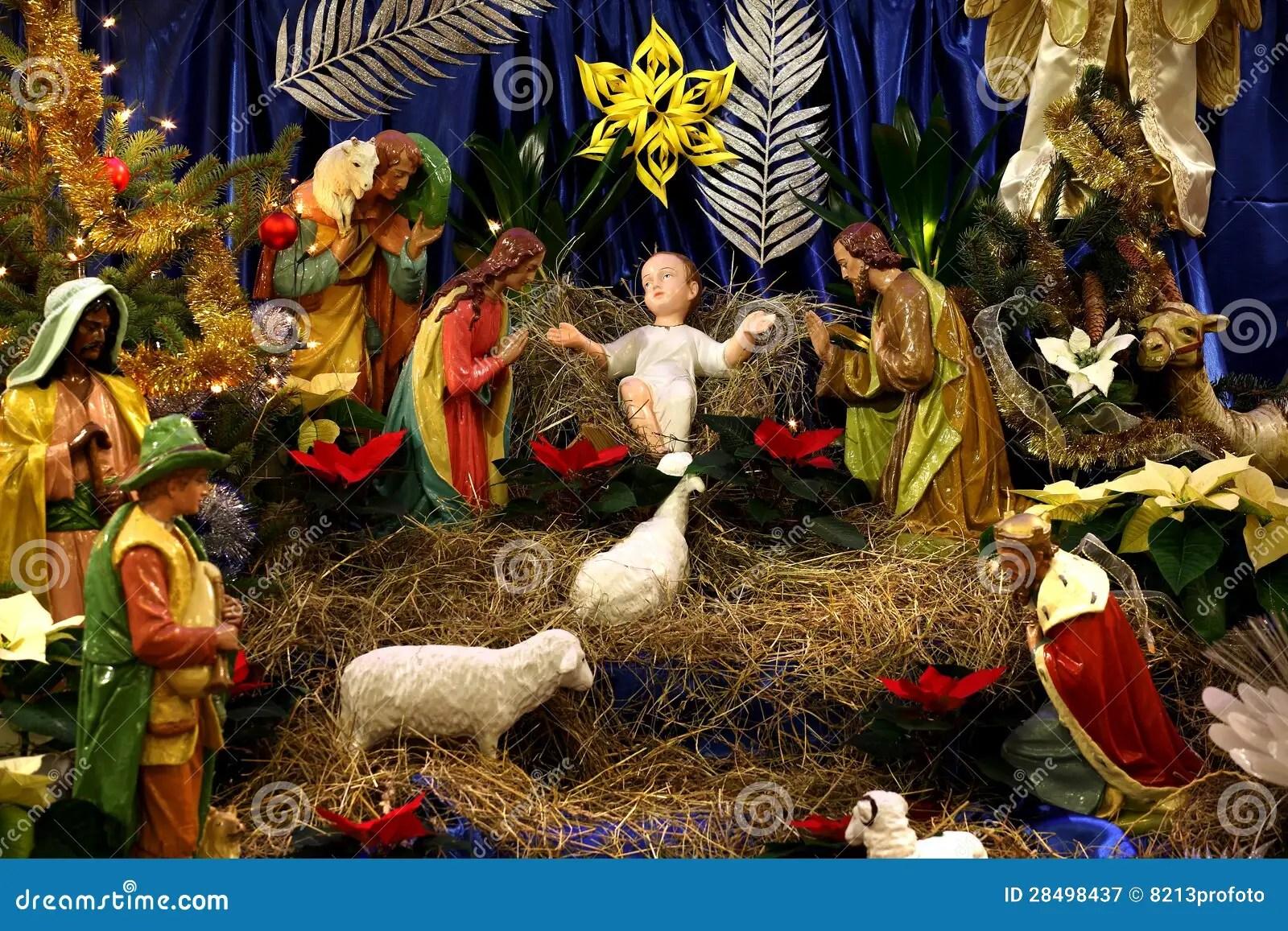 Christmas Crib Royalty Free Stock Photography Image
