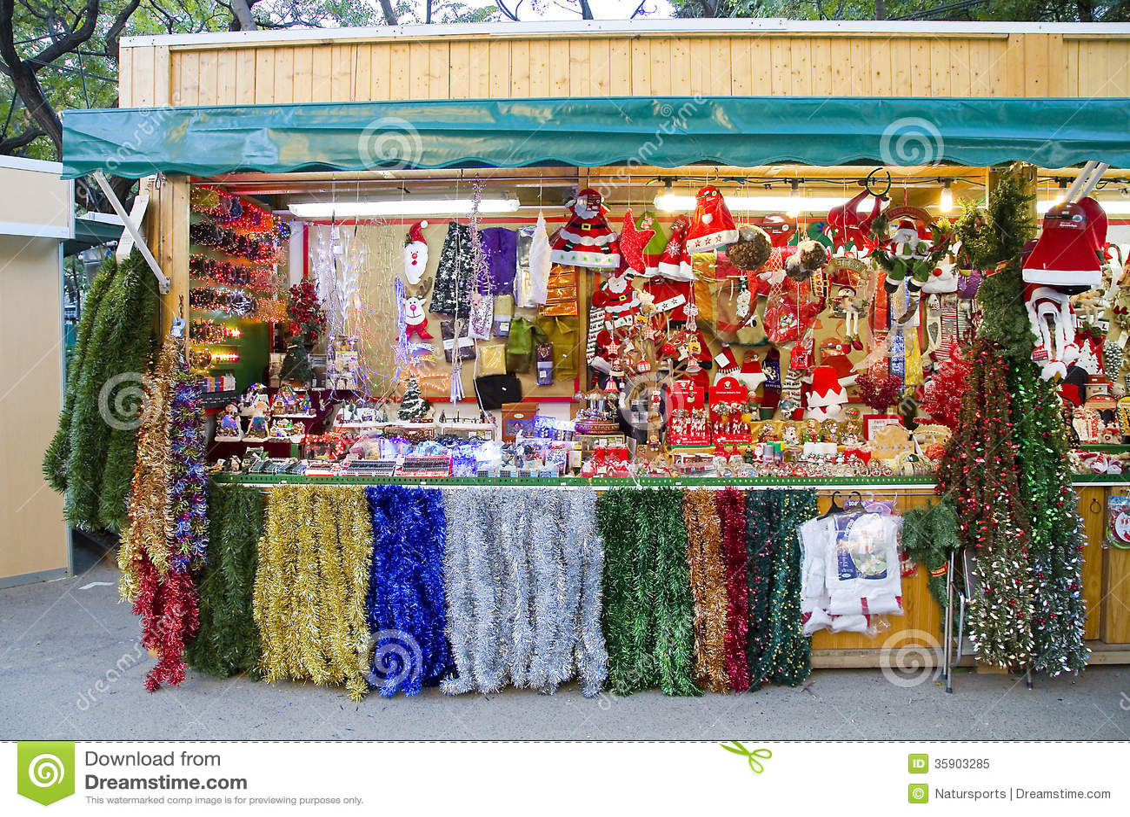 Christmas Decoration Shop Editorial Image Image 35903285
