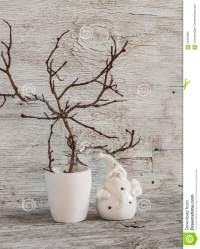 Christmas Decorations Home Interior - Dry Branches In A ...