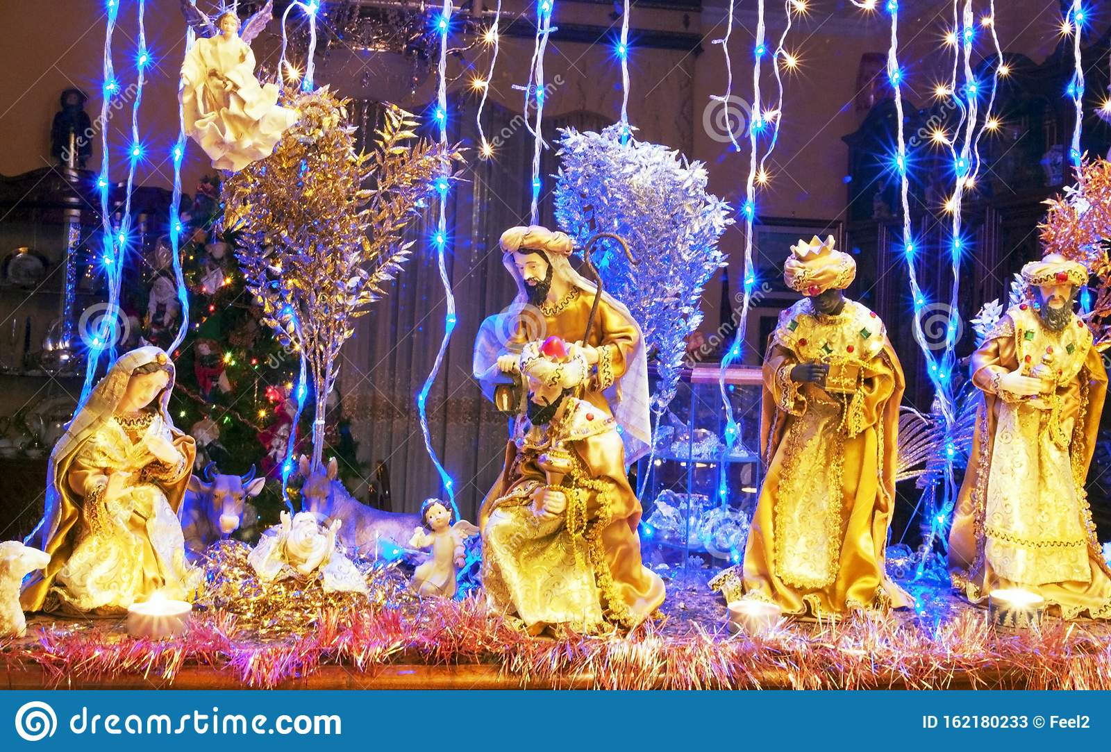 Christmas Decorations At Home Stock Image Image Of Lights House 162180233