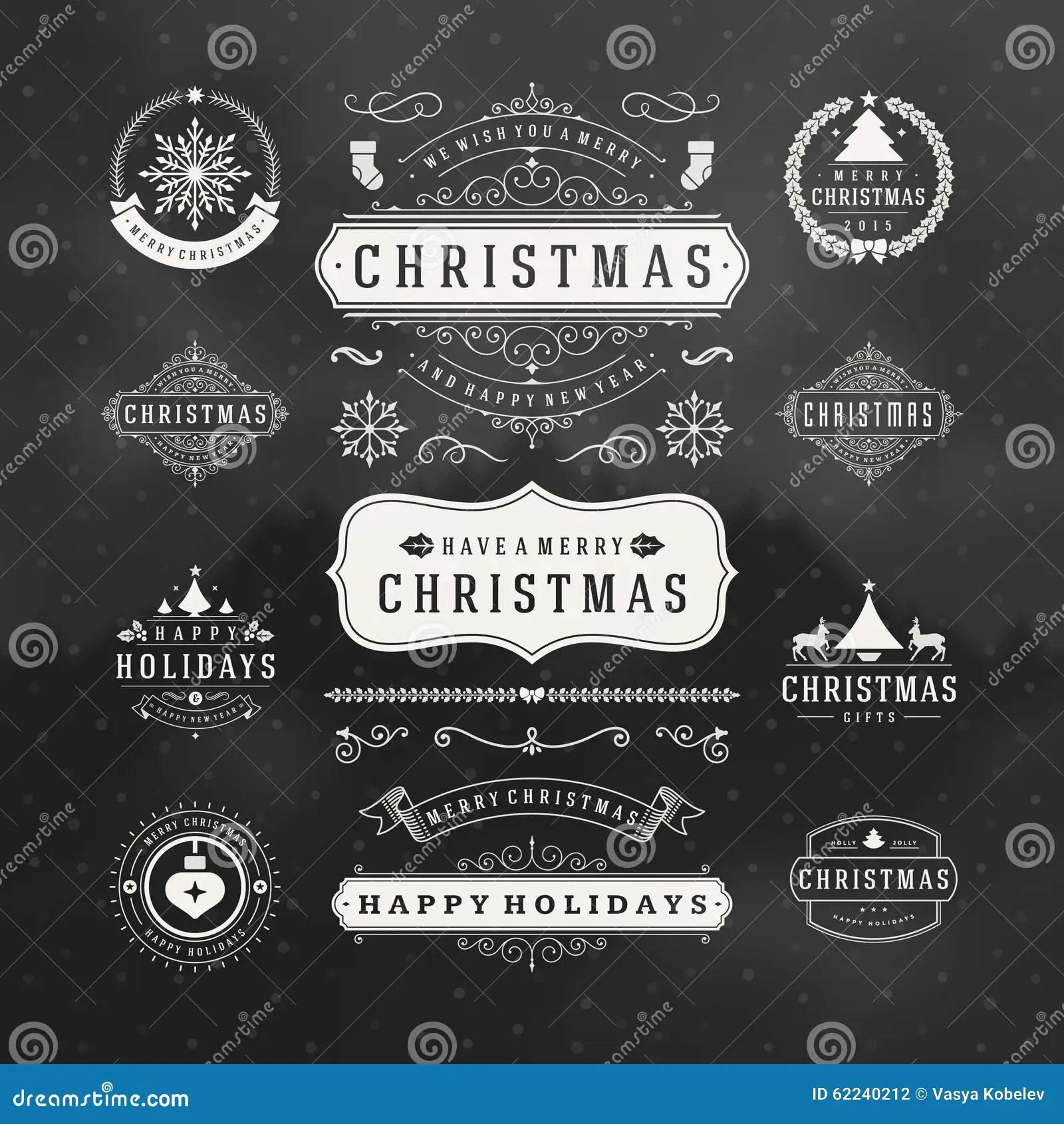 Christmas Decorations Vector Design Elements Stock Vector Illustration Of Celebration Merry 62240212