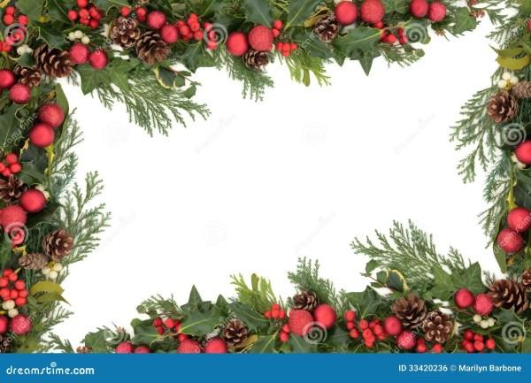 Christmas Decorative Border Royalty Free Stock Image