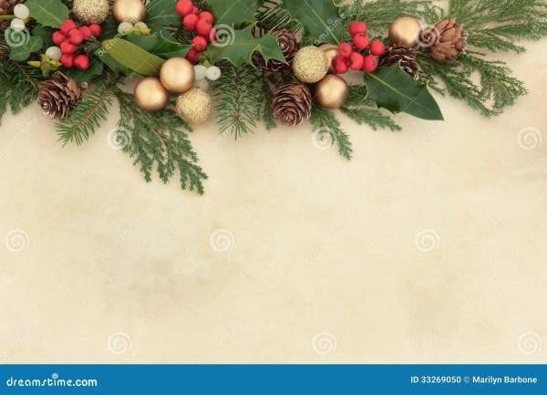 Christmas Decorative Border Stock Photo Image of