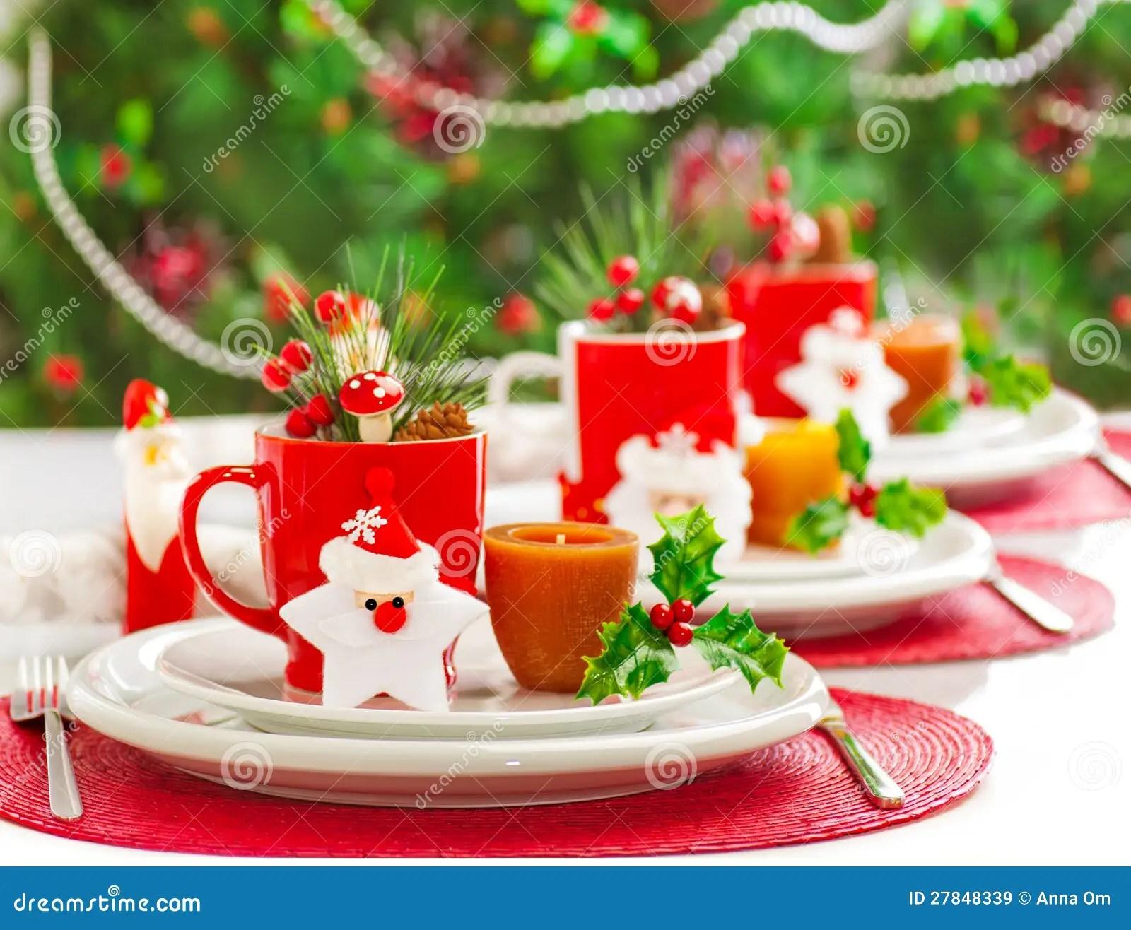 Christmas Dinner Decoration Stock Image Image 27848339