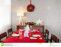 Christmas Dinner Table Setup Royalty Free Stock Photo ...