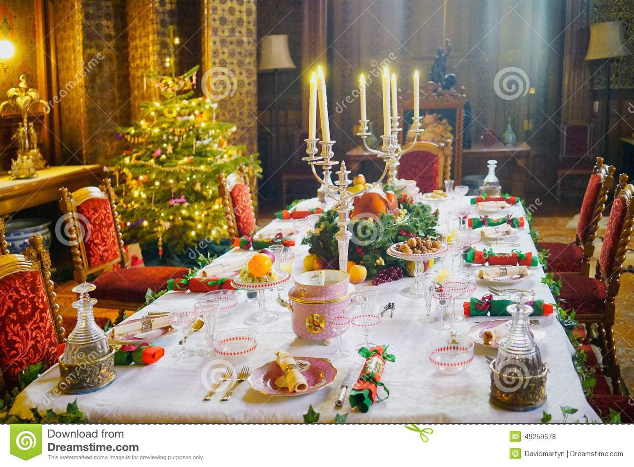 Food Chair Christmas Stock Photo Image 49259678