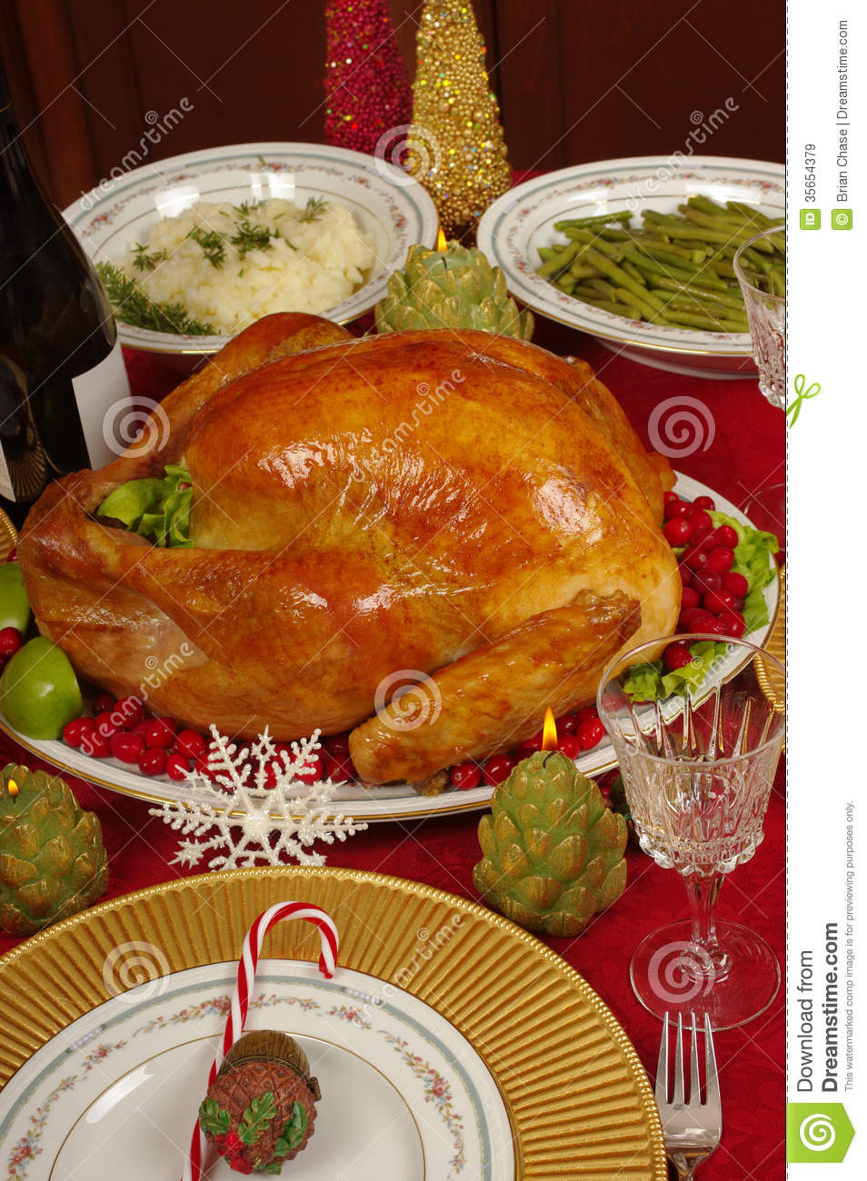 Christmas Dinner Royalty Free Stock Images Image 35654379