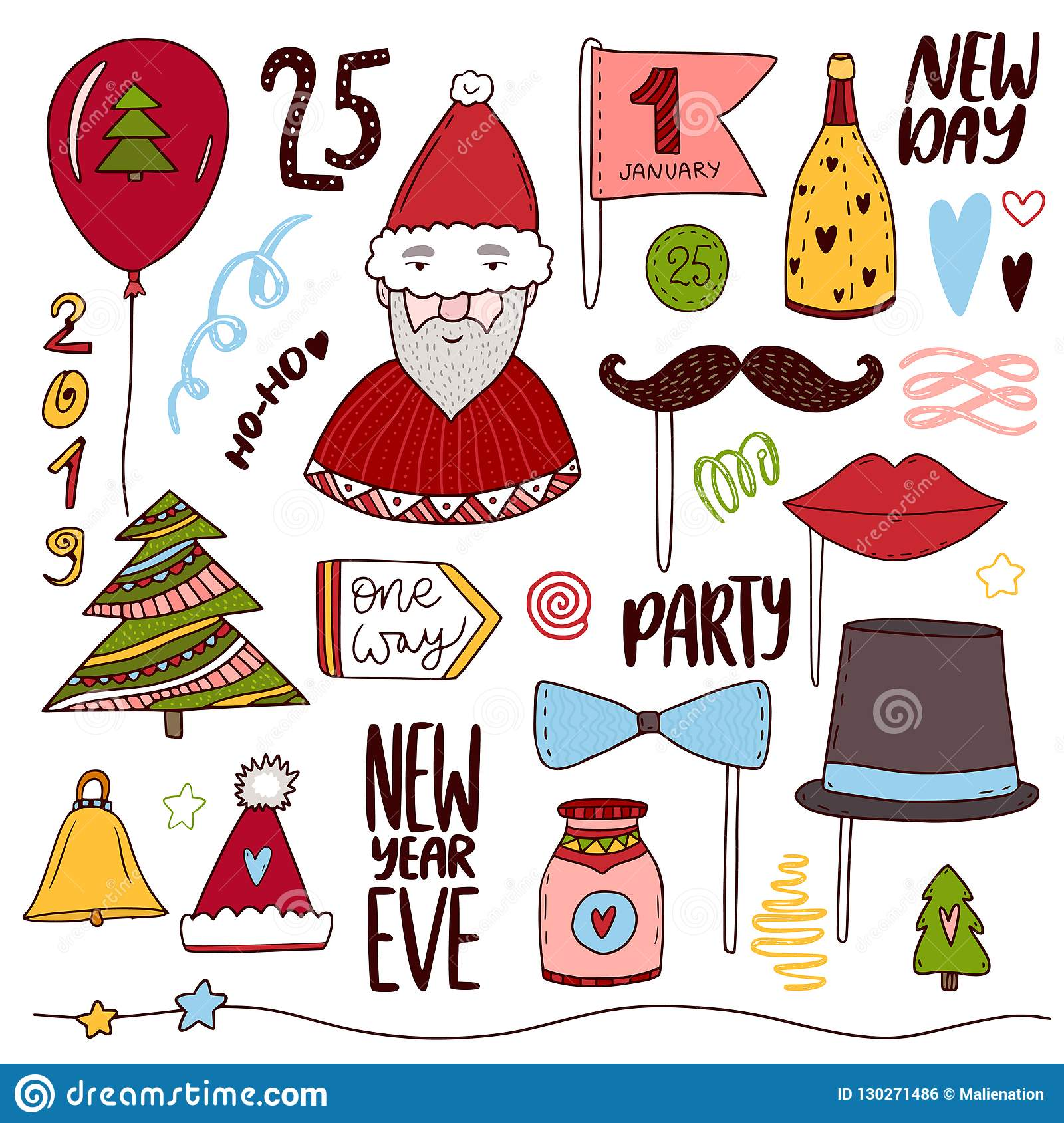 christmas doodle collection new