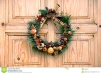 Christmas Door Decoration Stock Photography