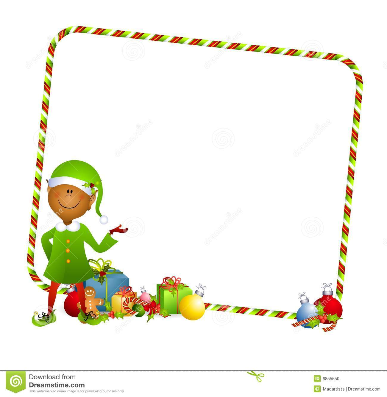 Christmas Elf Background Stock Photo