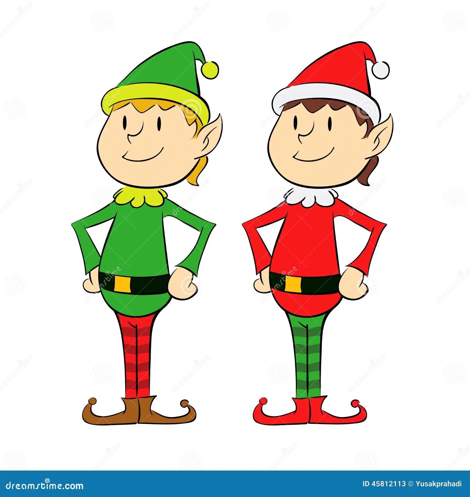Christmas Elf Stock Vector Image 45812113