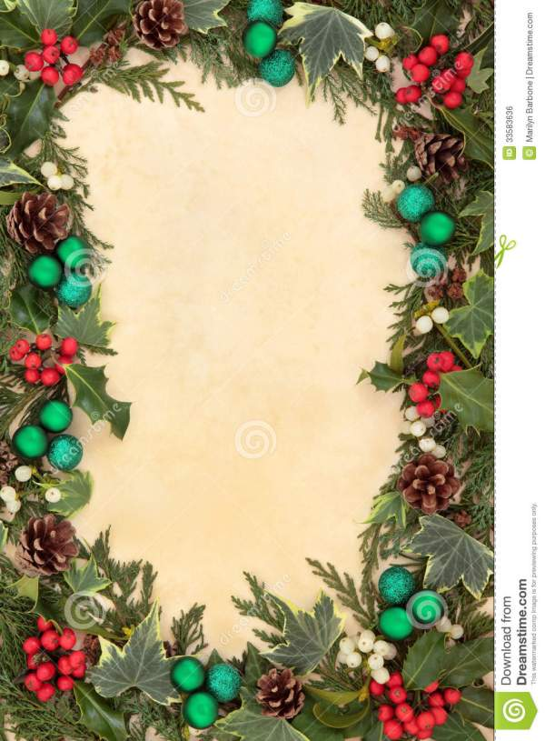 Christmas Flora And Baubles Stock Photo Image of nature