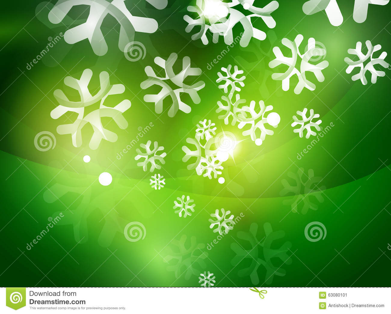 Christmas Green Abstract Background With White Stock