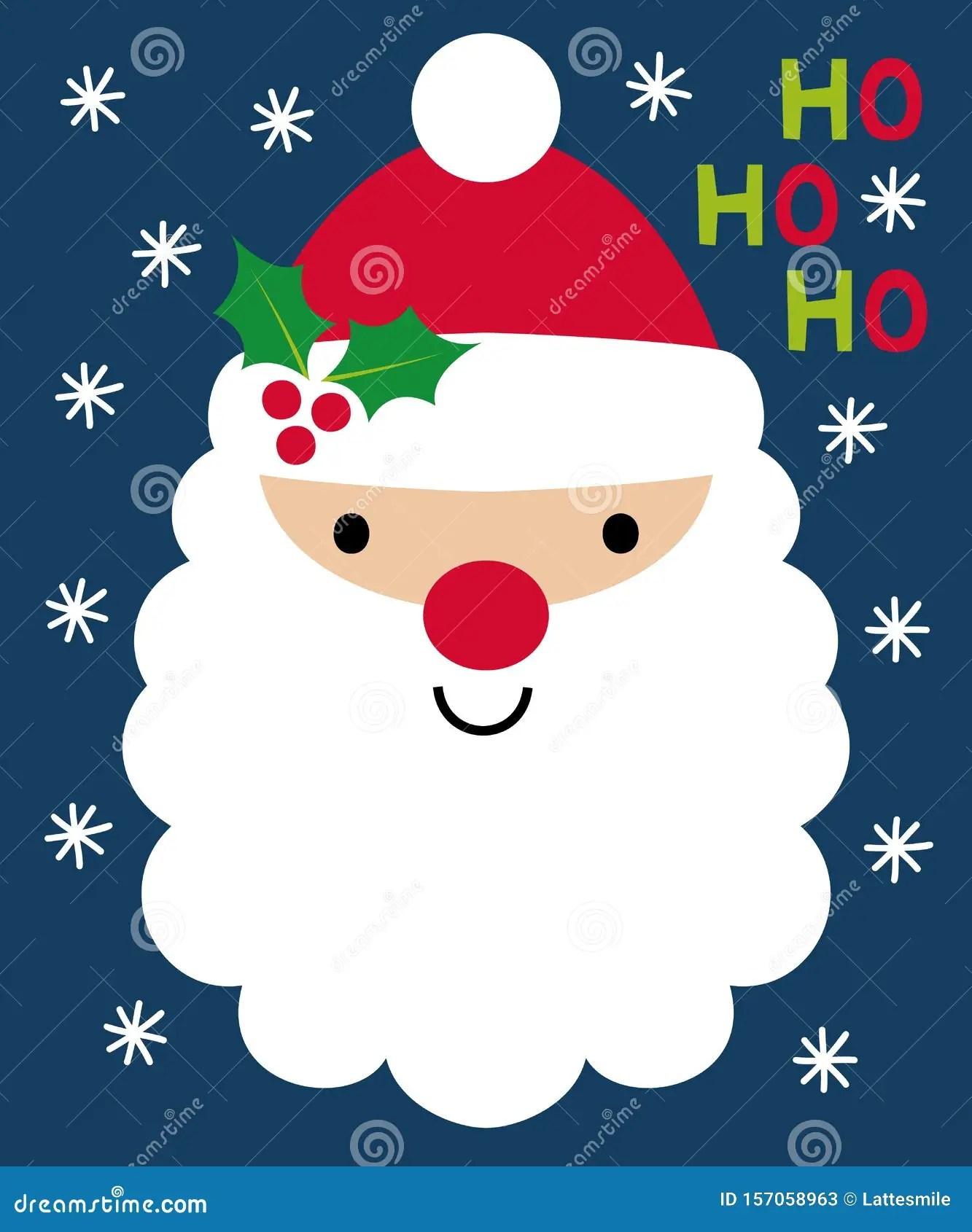 Cartoon Santa Face : cartoon, santa, Christmas, Greeting, Cartoon, Santa, Stock, Vector, Illustration, Card,, White:, 157058963