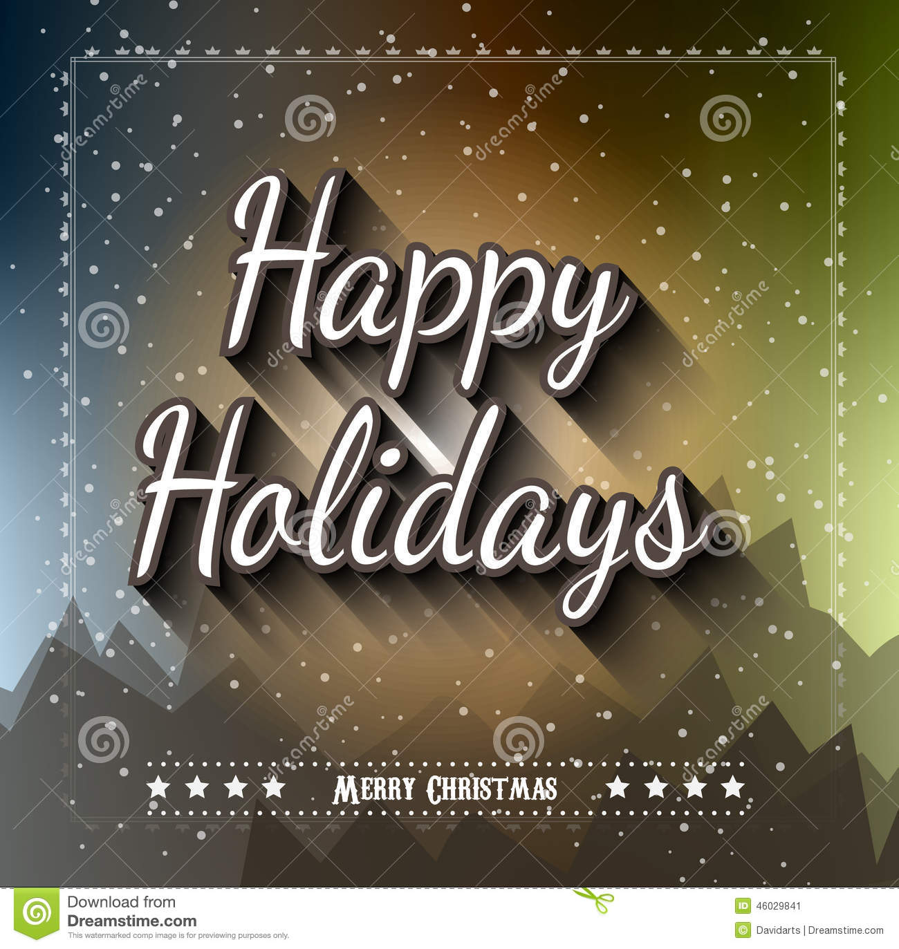 Christmas Greeting Card For Happy Holiday Flyers Stock