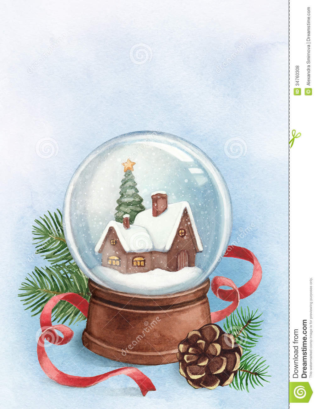 christmas fine snow card royalty free stock image