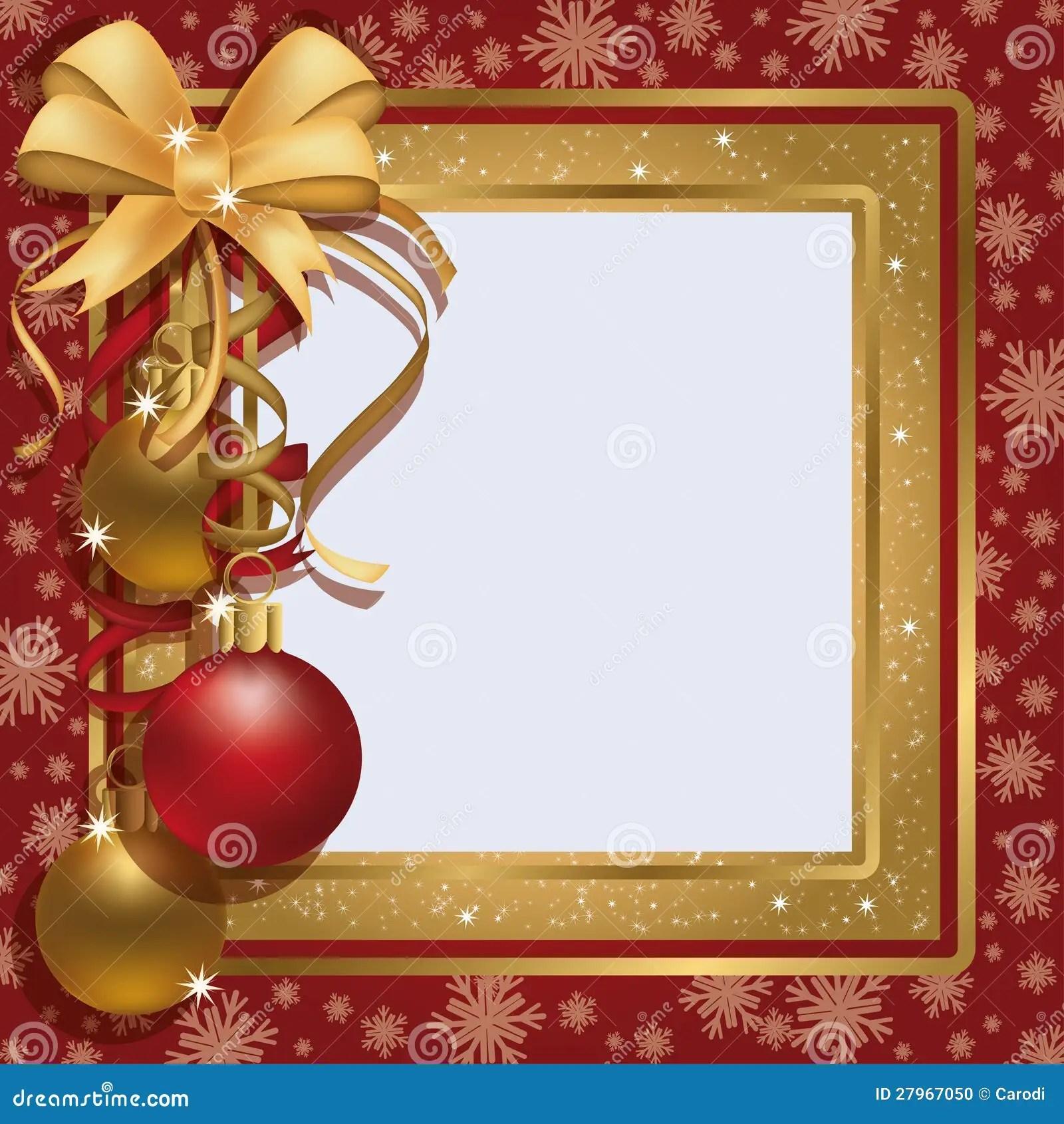 Christmas Greeting Photo Frame Scrapbooking Stock Photo
