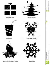 christmas clipart vector holiday silhouettes vectorclipart kerstmis vakantie vettore natale festa isolated vectorified