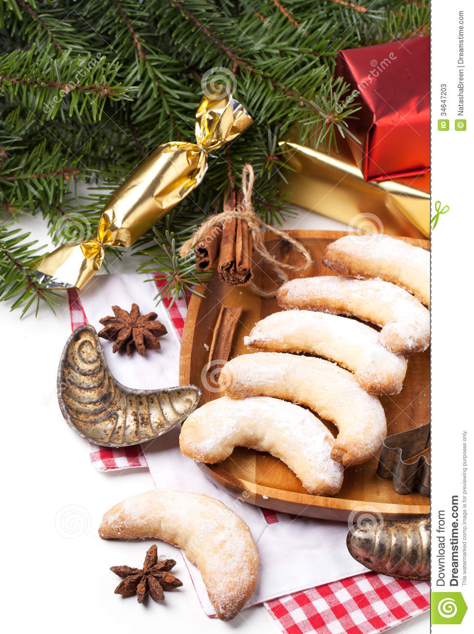 Christmas homemade cookies stock image Image of biscuit  34647203