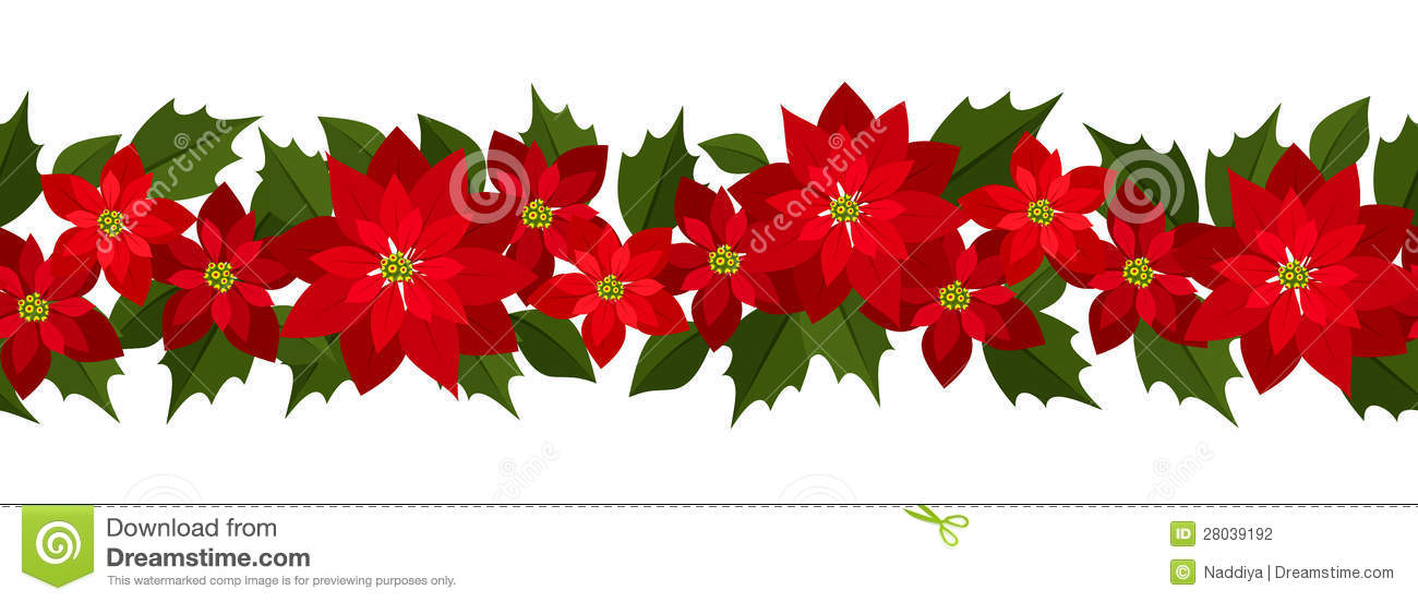 Christmas Horizontal Seamless Background Stock Photography
