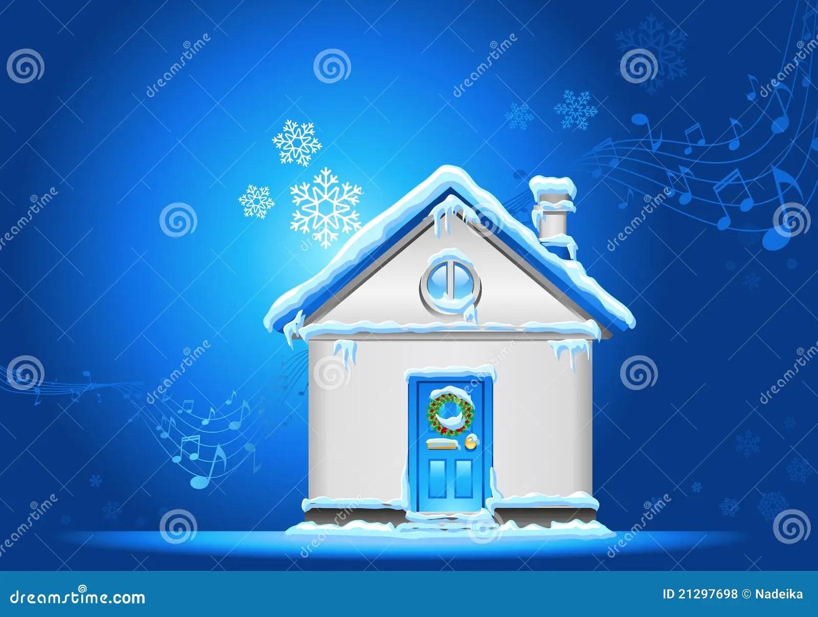 Christmashousebackground Royalty Free Stock Photos  Image 21297698