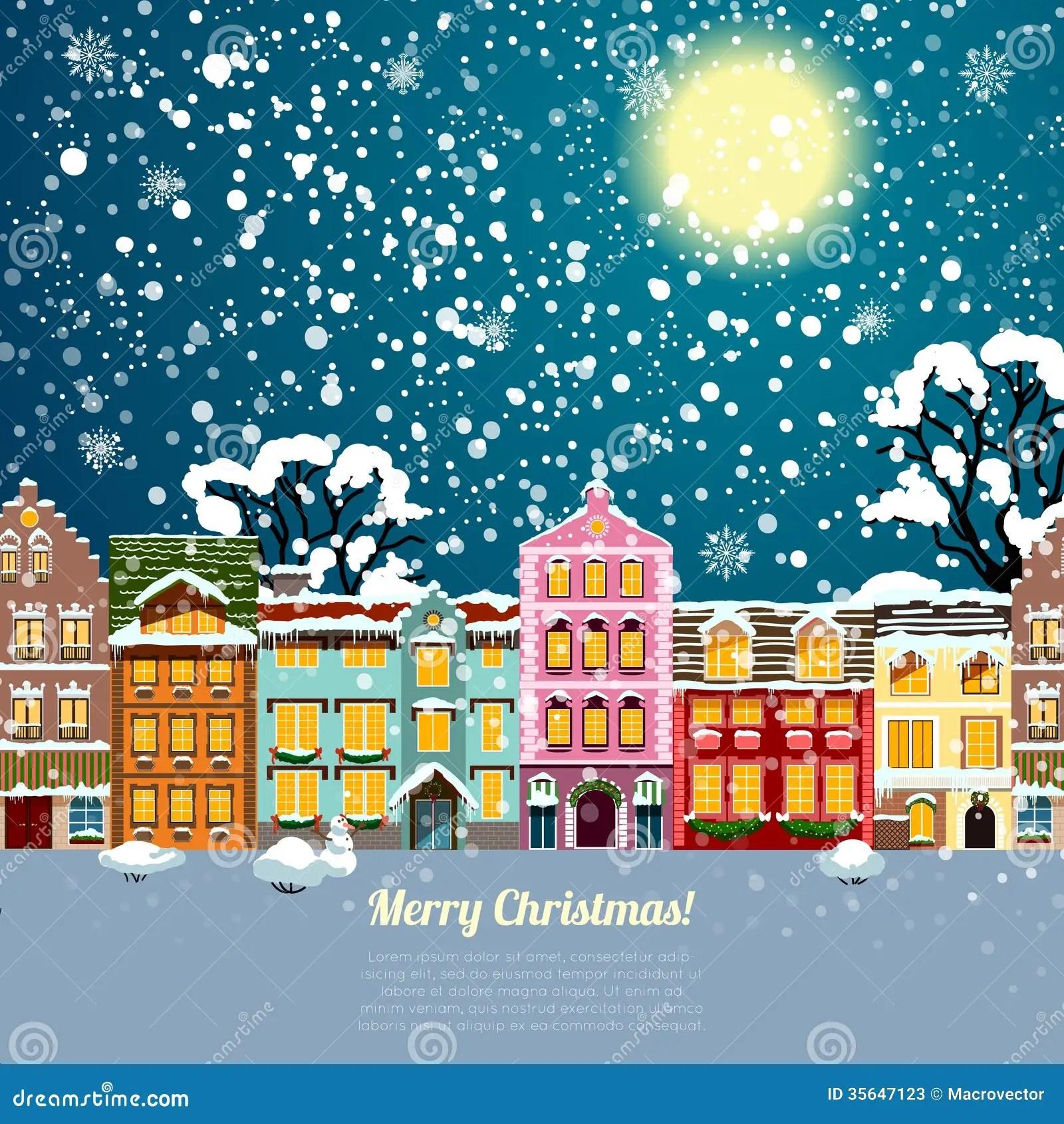 Christmas House Background Stock Image Image Of Christmas 35647123