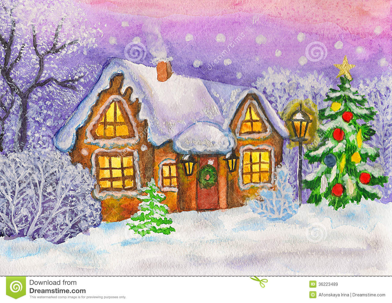 Christmas House Royalty Free Stock Images Image 36223489