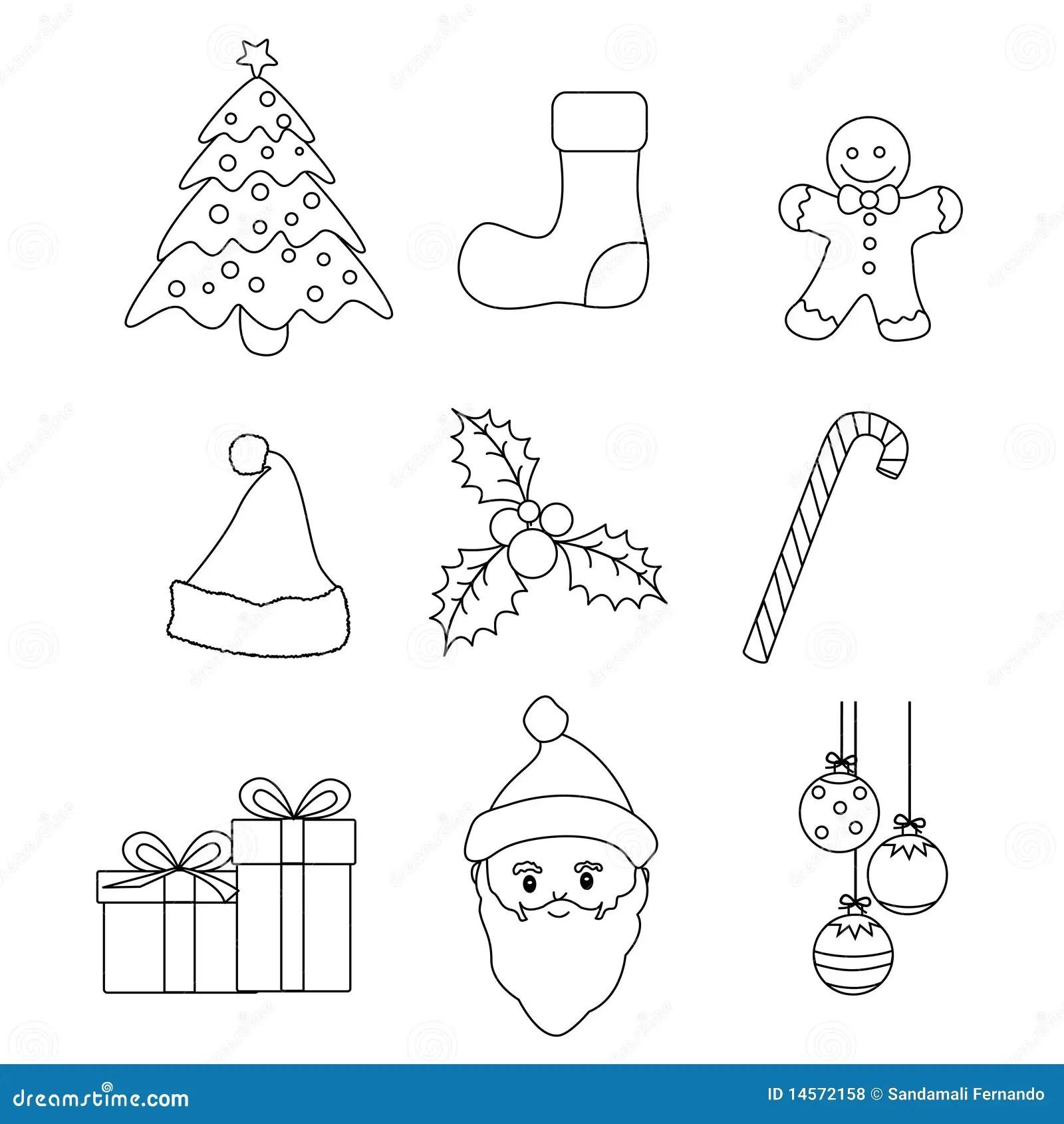 Christmas Icons Vector Royalty Free Stock Photos