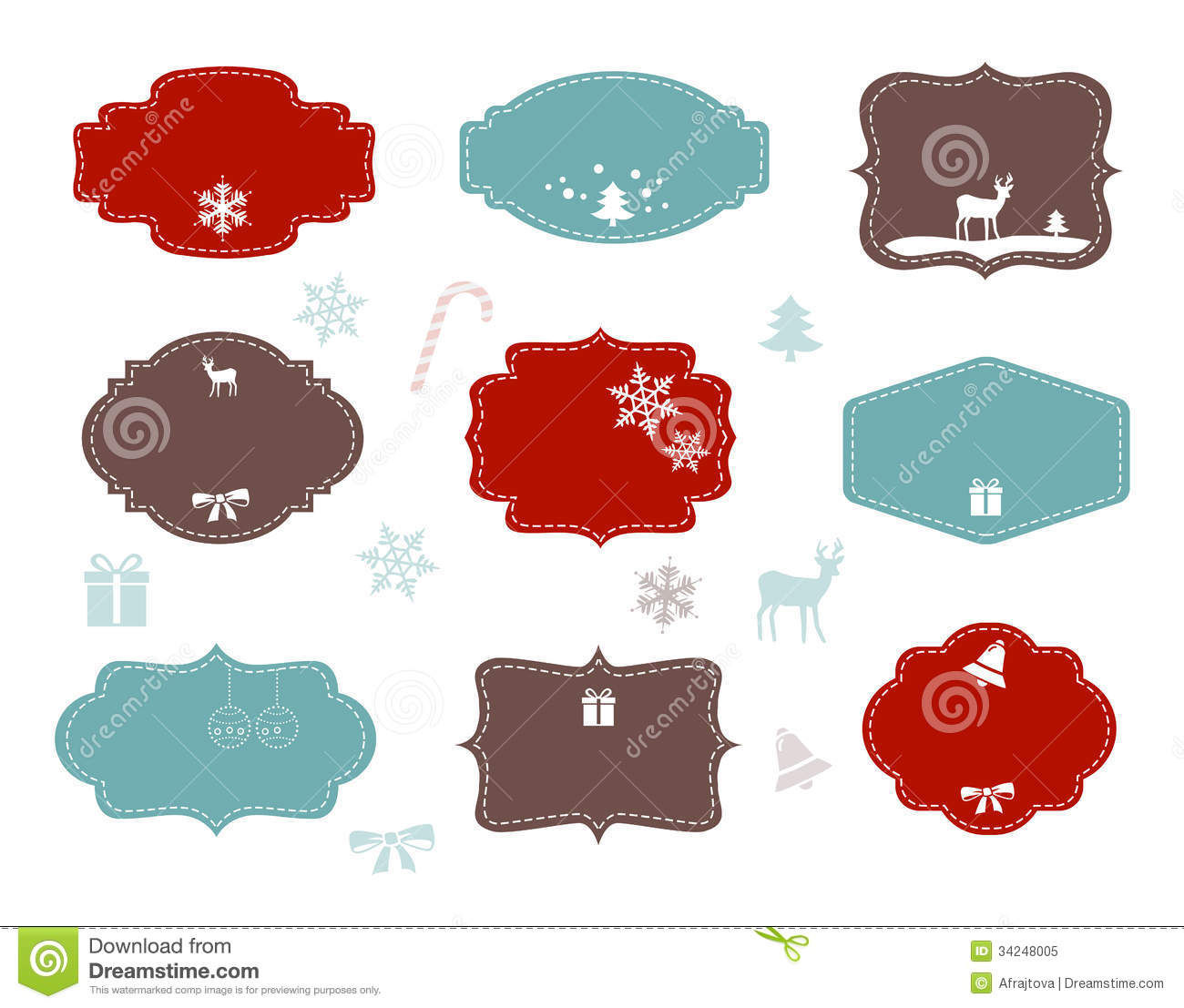 christmas labels stock vector