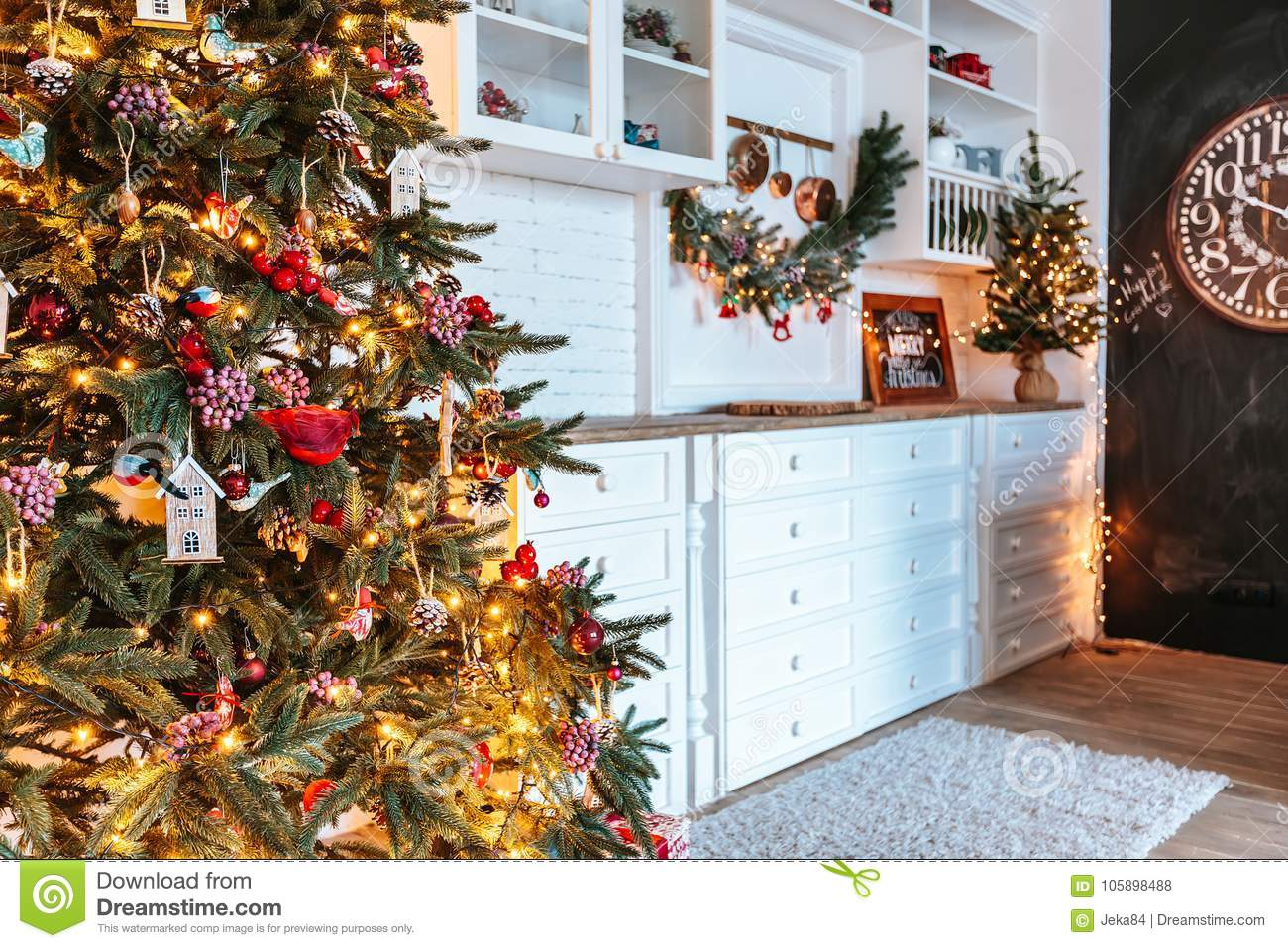 beautiful living rooms at christmas designing room with a tree gifts and clock new year decorated classic home interior