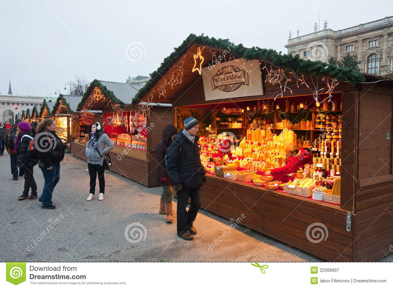 Christmas Market In Vienna Austria Editorial Photography
