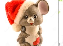 Christmas Mouse stock photo. Image of isolated, shiny ...