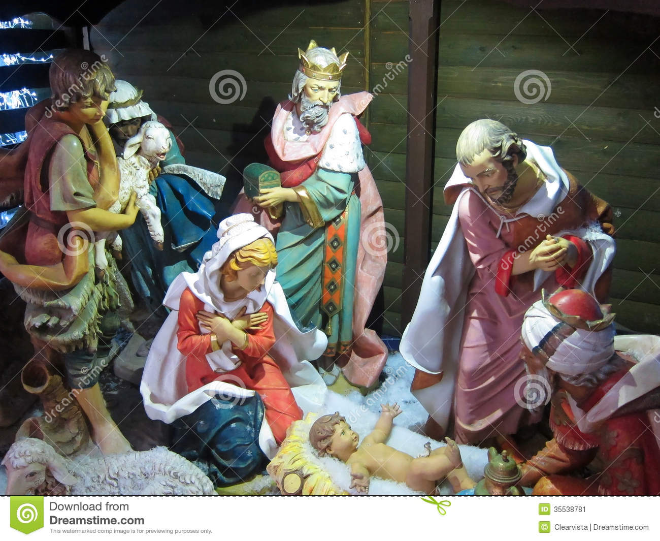 Christmas Nativity Jesus BirthThree Kings Stock Image