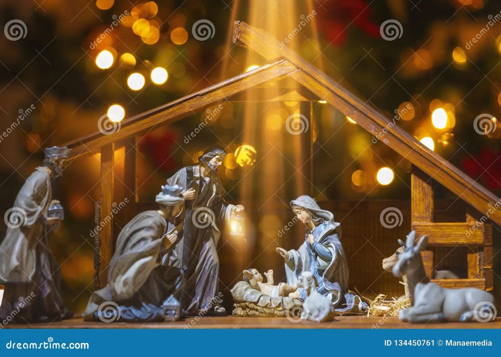 christmas nativity scene jesus