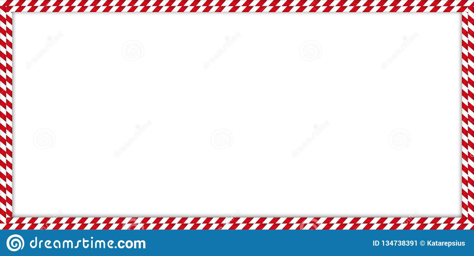 Christmas New Year Rectangle Double Candy Cane Border