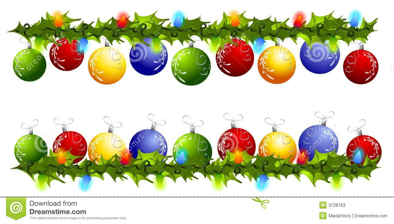 hight resolution of christmas ornament swag borders or dividers