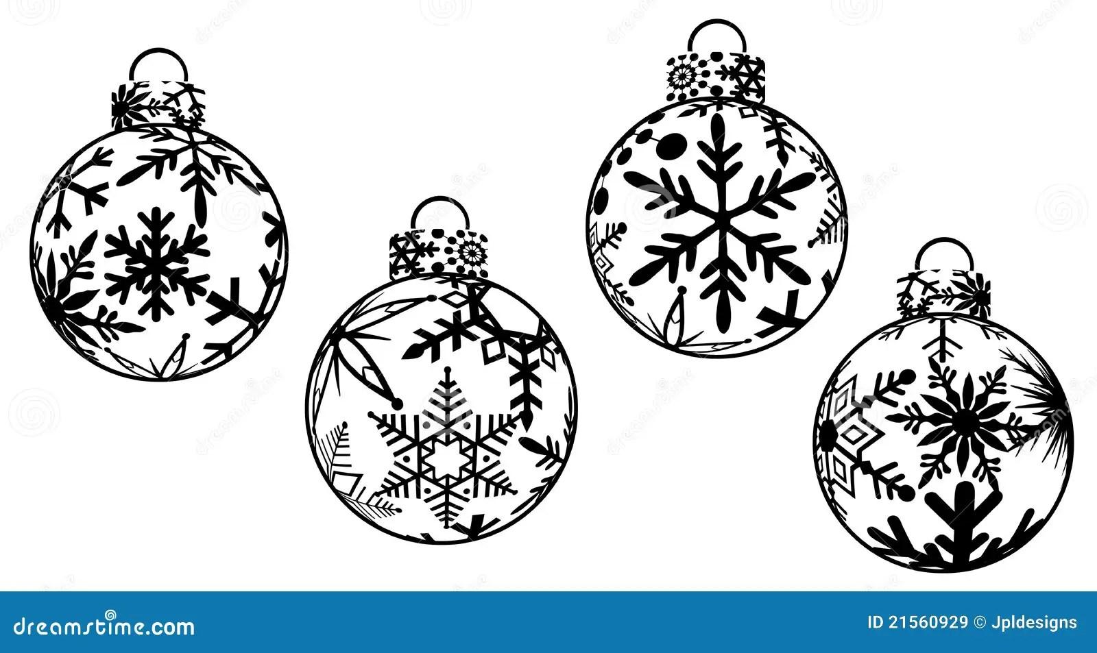 Christmas Ornaments Clipart Stock Illustration