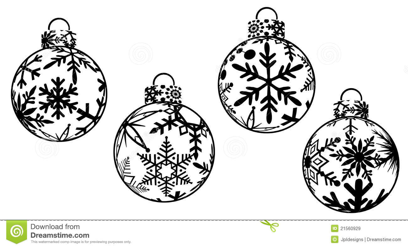 hight resolution of christmas ornaments clipart