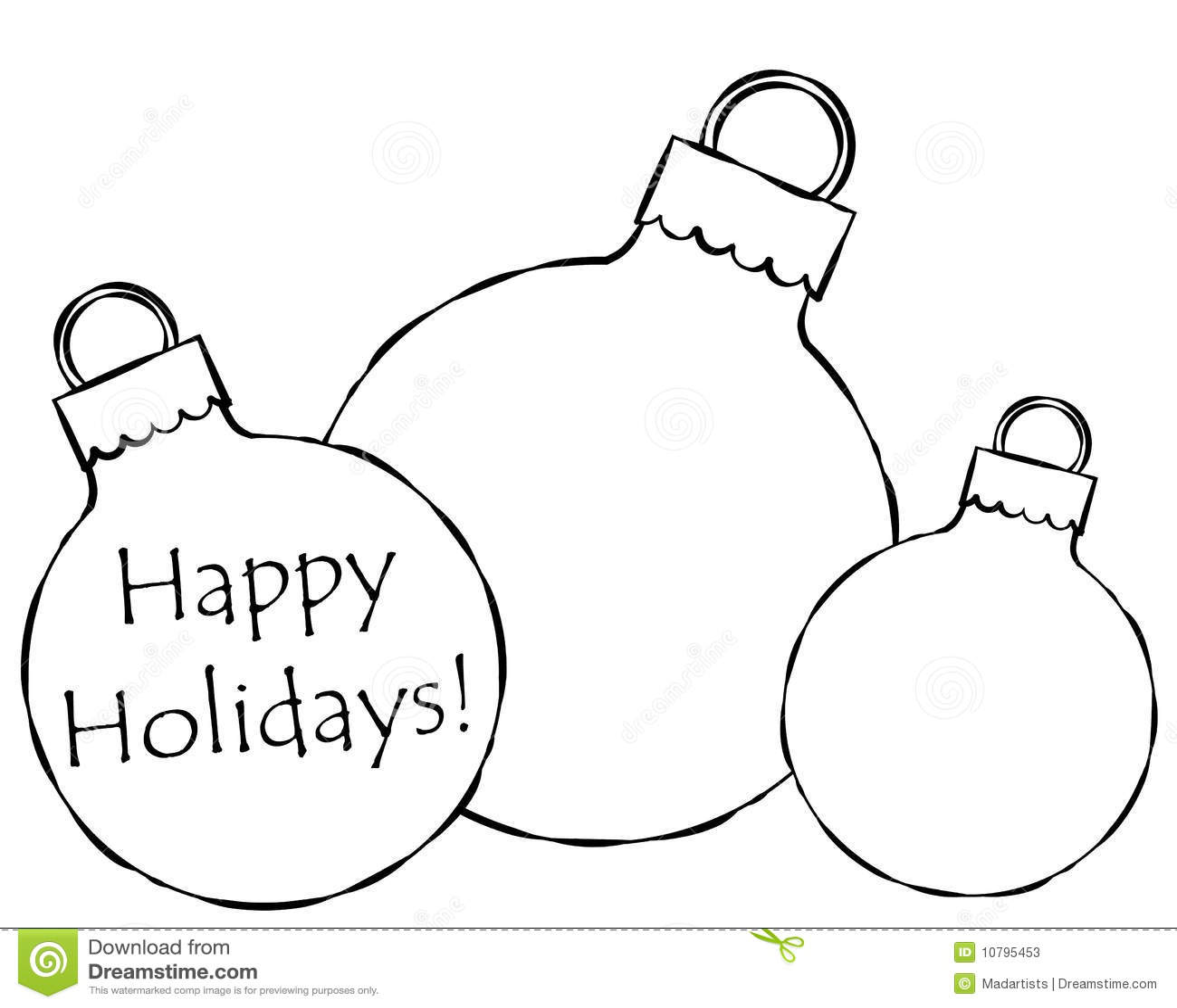 Christmas Ornaments Illustration Stock Photos