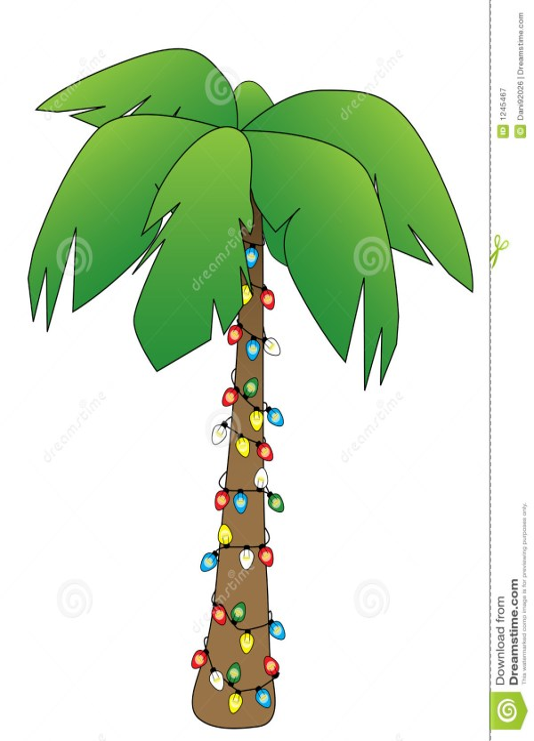 christmas palm stock illustration