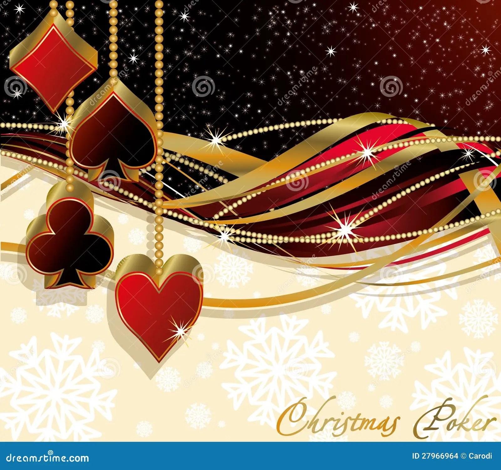 Christmas Poker Greeting Card Stock Images Image 27966964