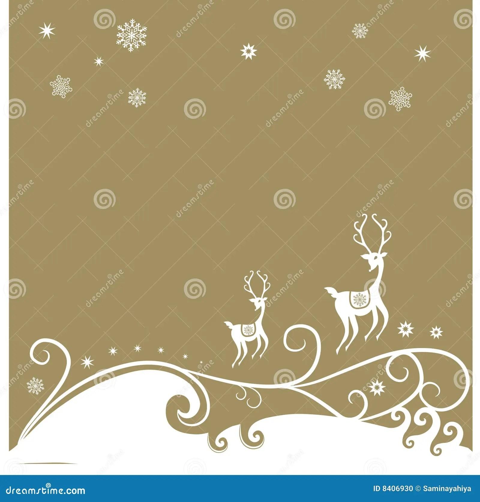 Christmas Reindeer Background Stock Illustration Image