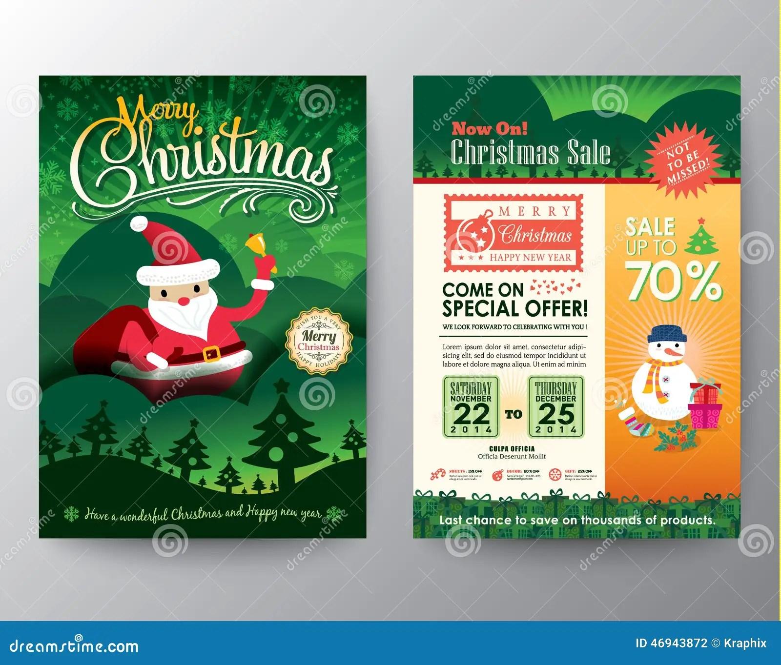 Christmas Sale Brochure Flyer Design Layout Vector