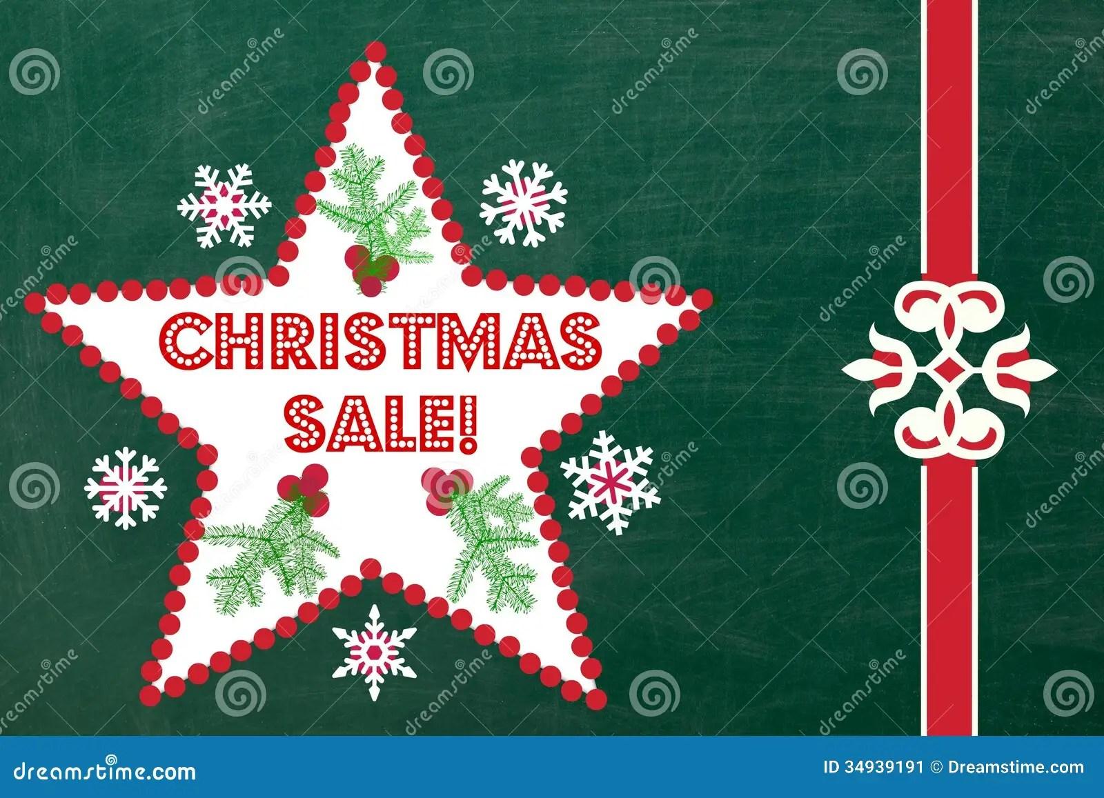 Chalkboard Christmas Sale Sign Stock Image Image 34939191
