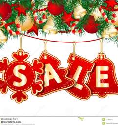 christmas sale tags on christmas signs vector illustration [ 1300 x 1206 Pixel ]