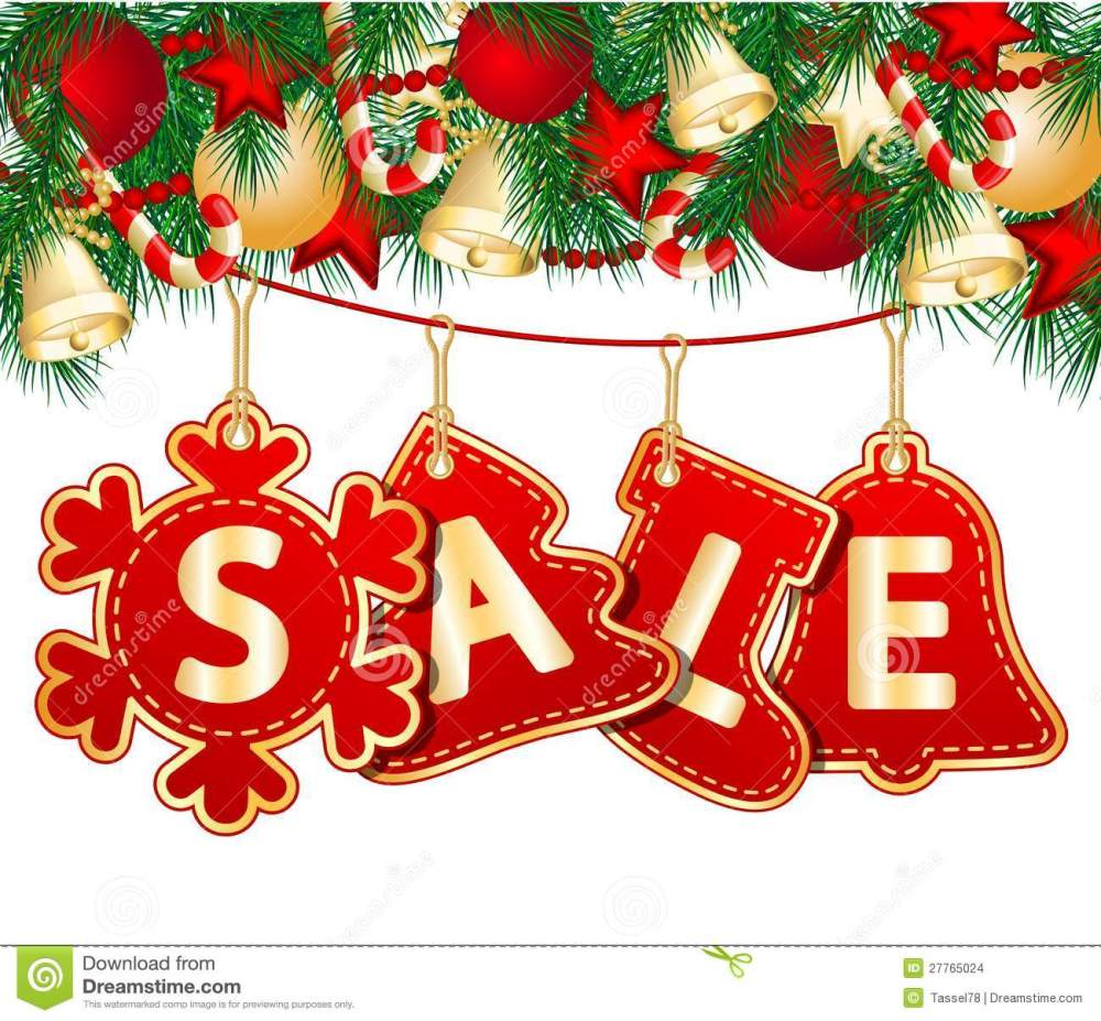 medium resolution of christmas sale tags on christmas signs vector illustration