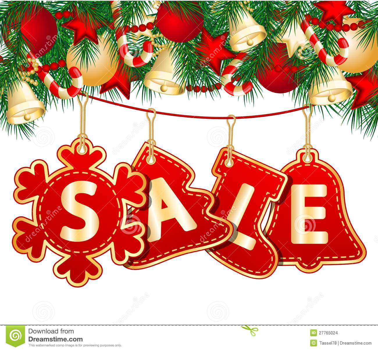hight resolution of christmas sale tags on christmas signs vector illustration
