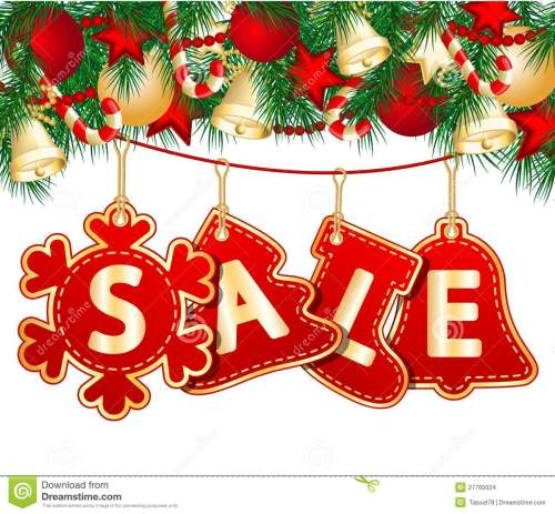 small resolution of christmas sale tags on christmas signs vector illustration